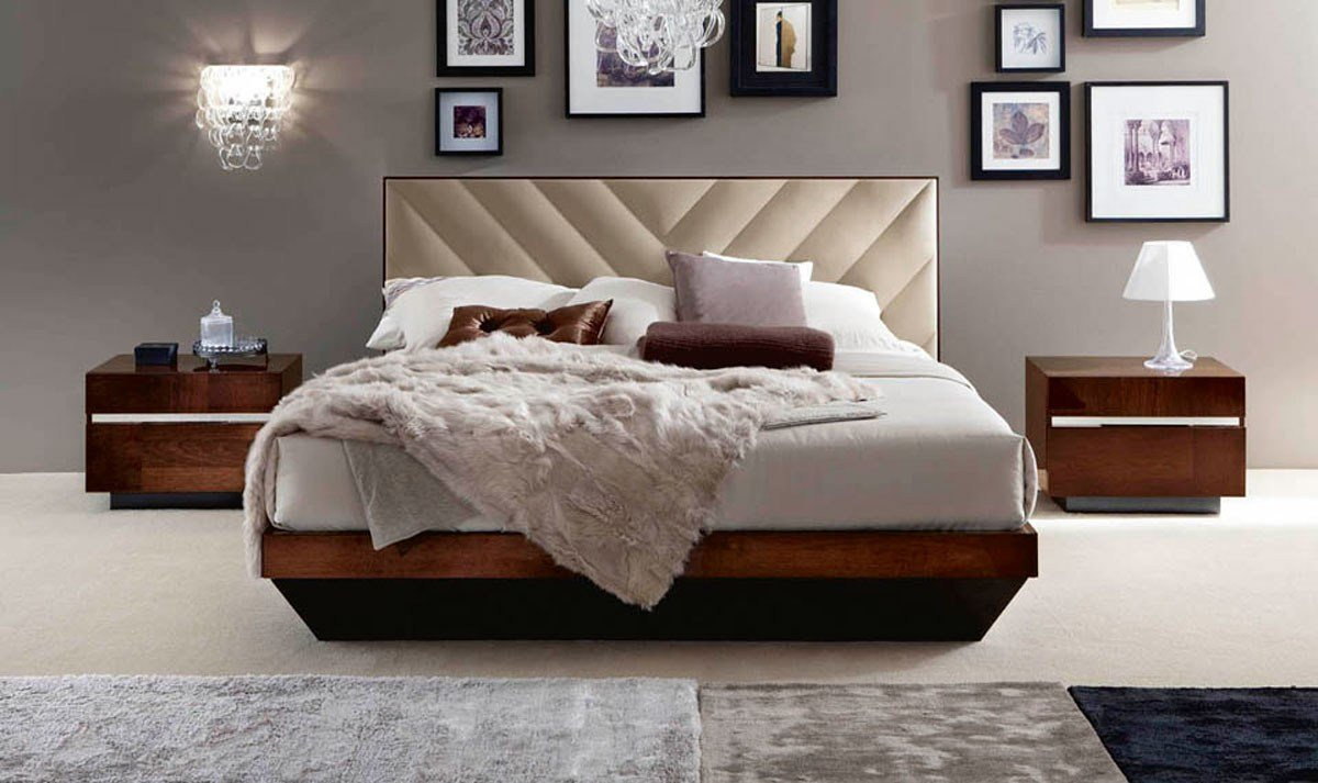 Best Alf Roma Italian Modern Walnut Eastern King Bedroom Set With Pictures