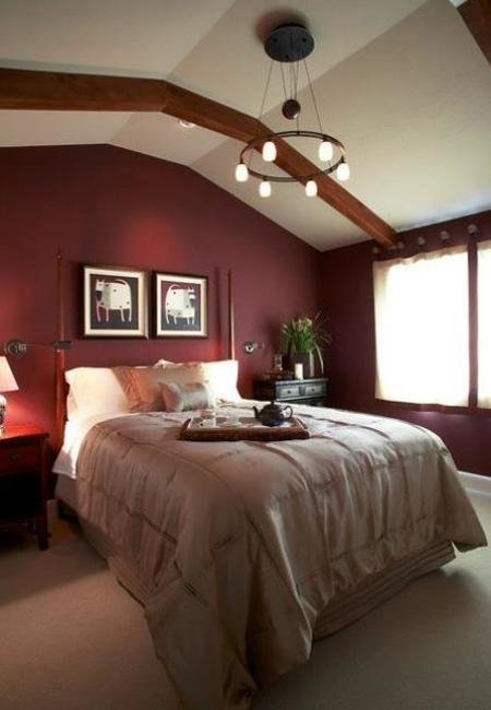 Best Marsala Wine Bedroom Colors Modern Bedroom Decorating With Dark Red Color With Pictures