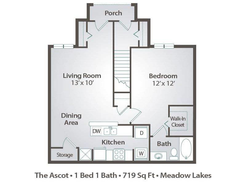 Best 1 Bedroom Apartment Floor Plans Pricing – Meadow Lakes With Pictures