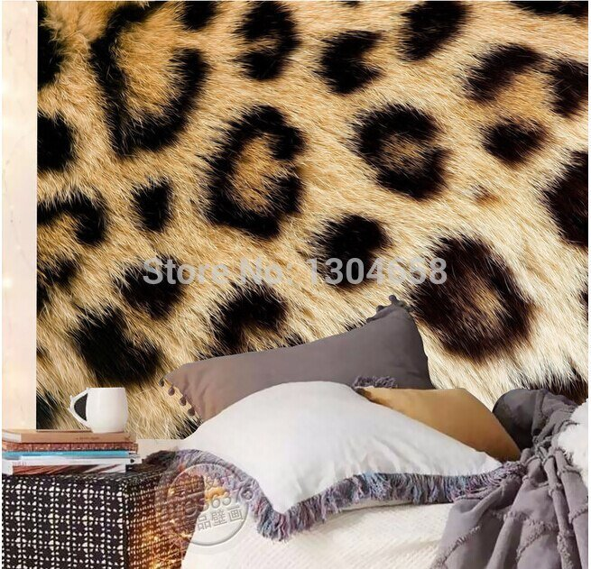 Best Custom Photo Wallpaper Leopard Fur For The Sitting Room With Pictures