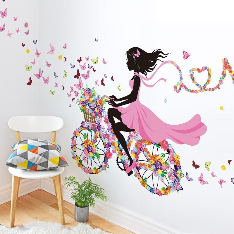 Best Diy Wall Decor Dancing Girl Art Wall Stickers For Kids With Pictures