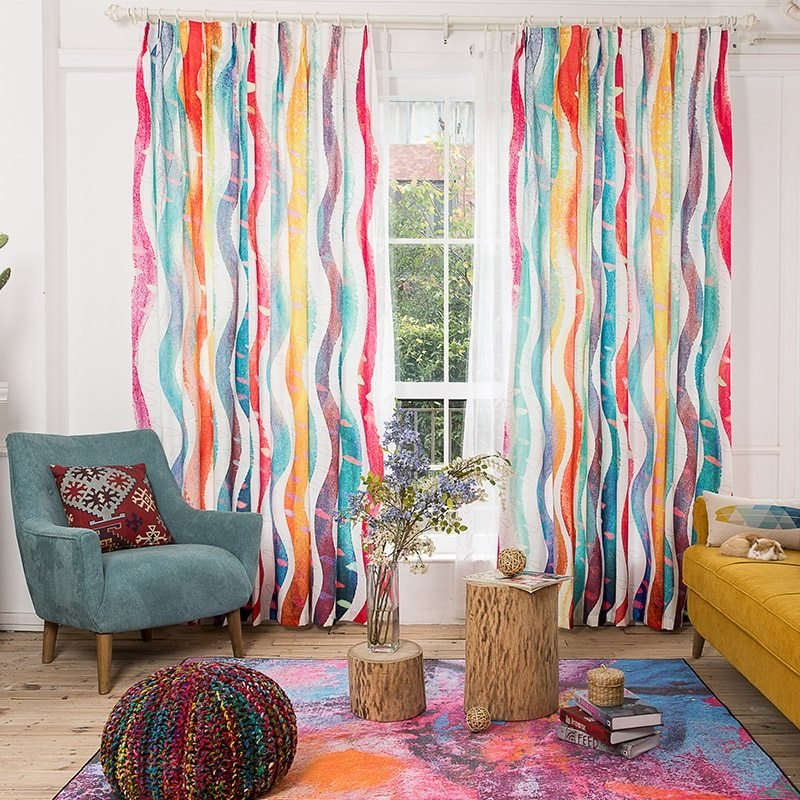 Best Aliexpress Com Buy Environmental Linen Colorful Striped With Pictures