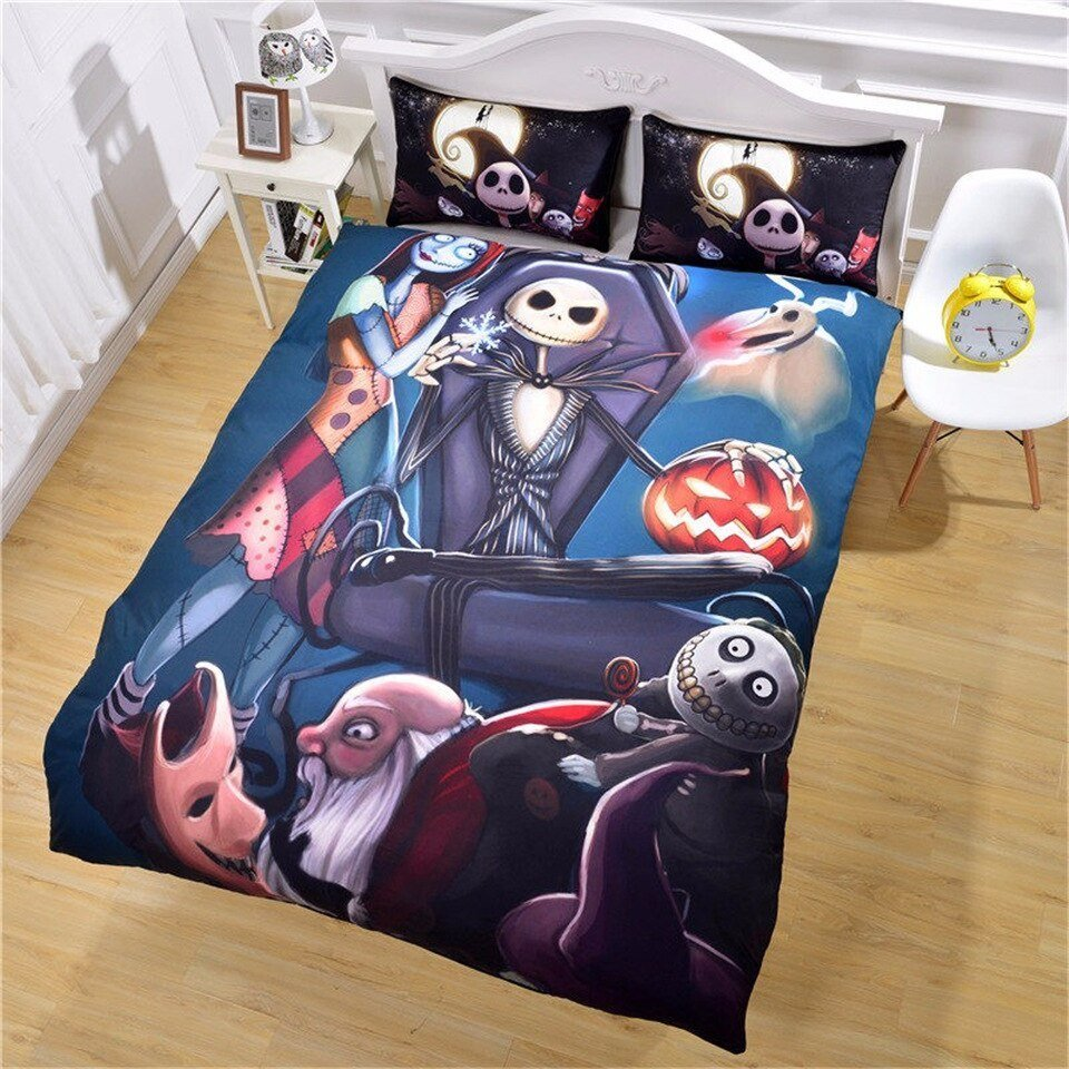 Best Nightmare Before Christmas Twin Full Queen King Bedclothes Bed Linen Duvet Cover Set Bedding Set With Pictures