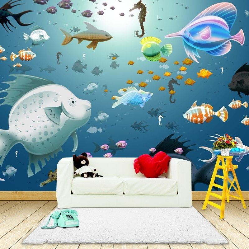 Best Photo Wallpaper 3D Sea View Wall Painting Children S Room With Pictures