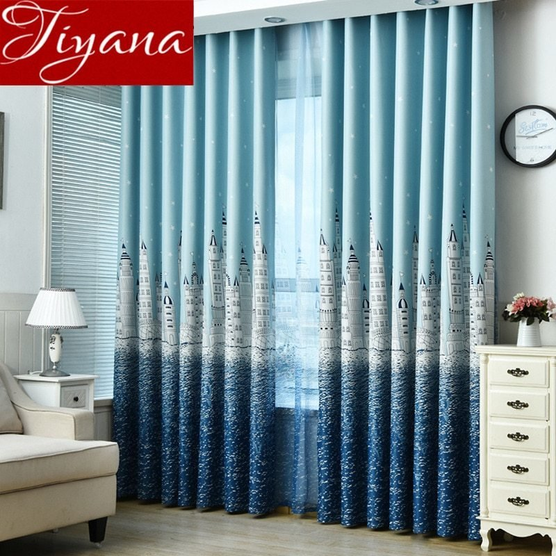 Best Cartoon Curtain Castle For Living Room Window Bedroom Kids With Pictures