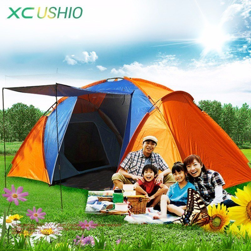 Best Double Layer Waterproof Big Camping Tent Two Bedroom Room With Pictures