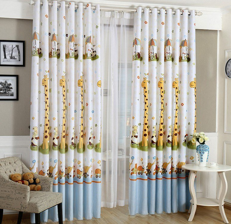Best Animal Print Blackout Baby Infant Room Curtains Children With Pictures