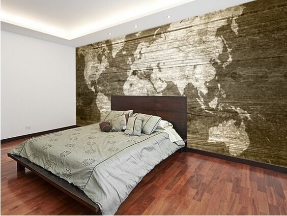 Best Aliexpress Com Buy Custom Texture Wallpaper World Map On With Pictures