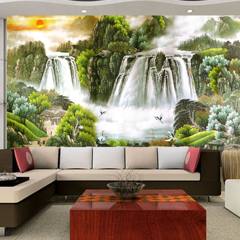 Best Large Modern Living Room 3D Landscape Painting Feng Shui With Pictures