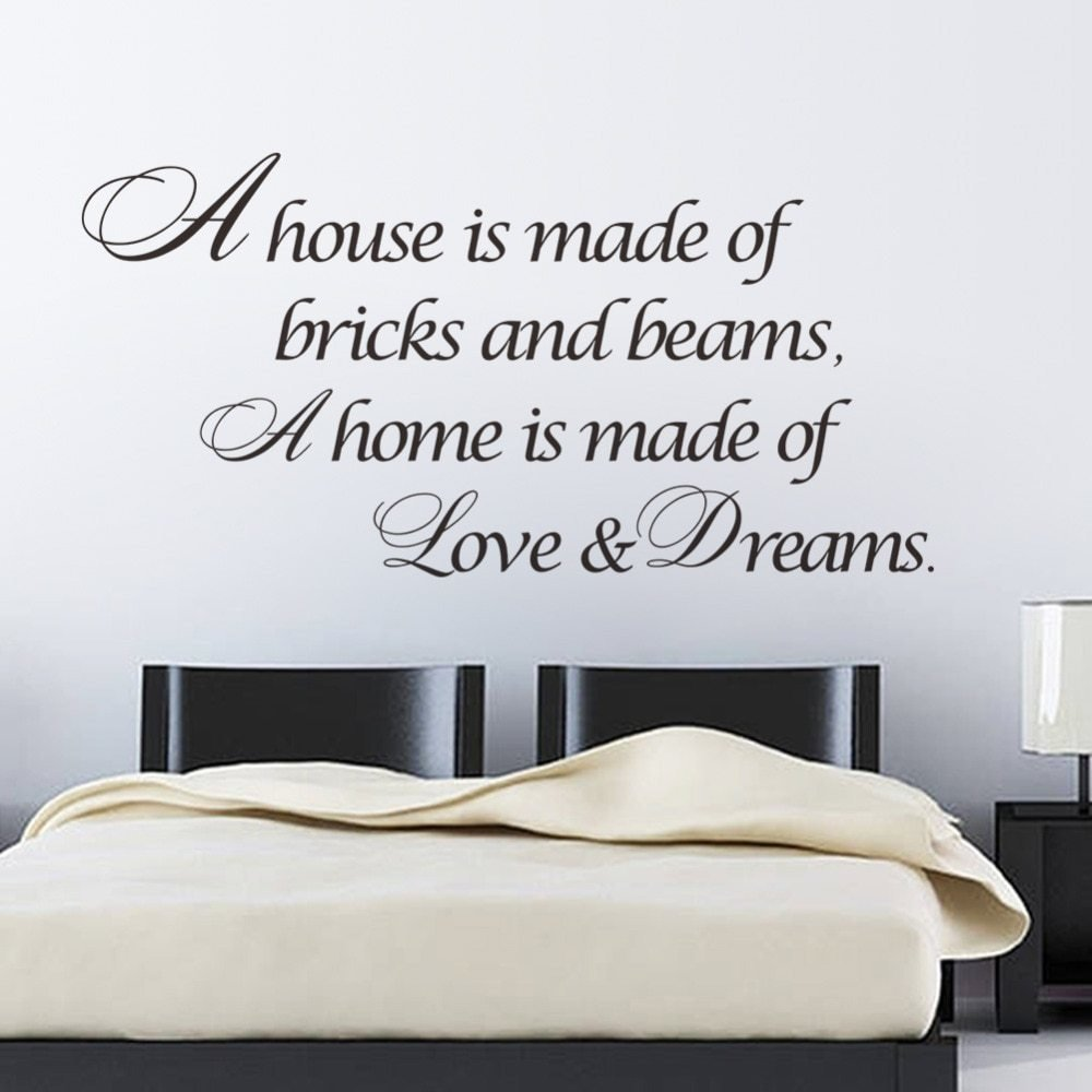 Best A Home Is Made Of Love Dreams Quotes Wall Sticker Bedroom With Pictures