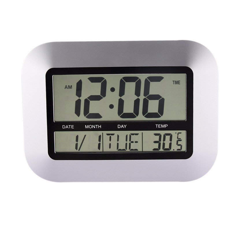 Best Alarm Clocks Temperature Display Silver Desk Bedroom With Pictures