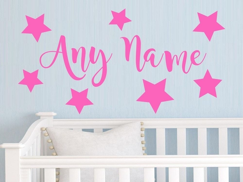 Best Personalized Stars Any Name Vinyl Wall Sticker Art Decal With Pictures