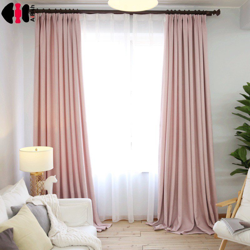 Best Aliexpress Com Buy Simple Style Pink Linen Cloth Room With Pictures