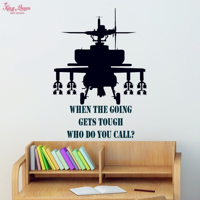 Best Aliexpress Com Buy Gunship Wall Sticker Vinyl Quotes Decals T**N Boys Bedroom Wall Art With Pictures