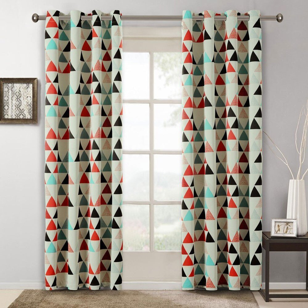 Best Children Curtains For Bedroom American Style Geometric With Pictures