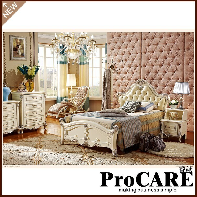 Best High Quality Antique Bedroom Furniture Set Oak Solid Wood With Pictures