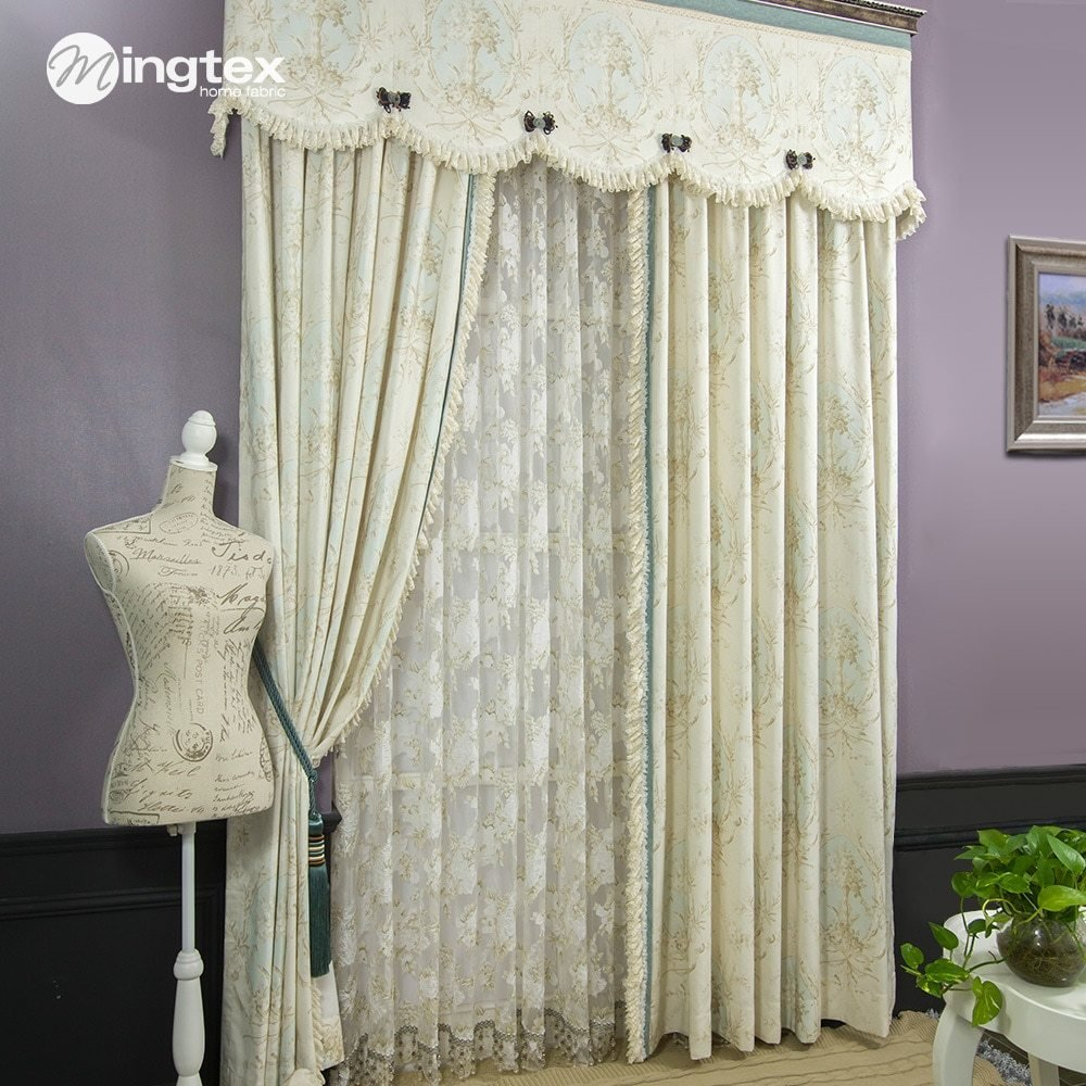 Best American Style Curtain Bedroom Curtain White Lace Curtain Window Screening Fabric Curtain Tw039 With Pictures
