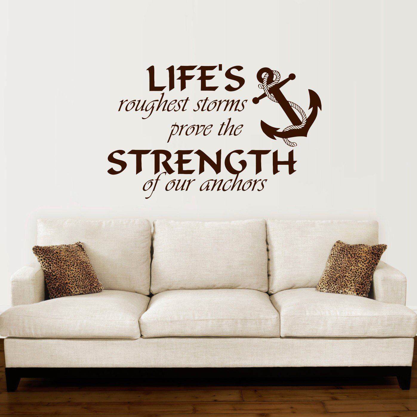 Best Anchor Wall Decal Quotes Nautical Sayings Wall Vinyl Sticker Bedroom Decor Diy Self Adhesive With Pictures