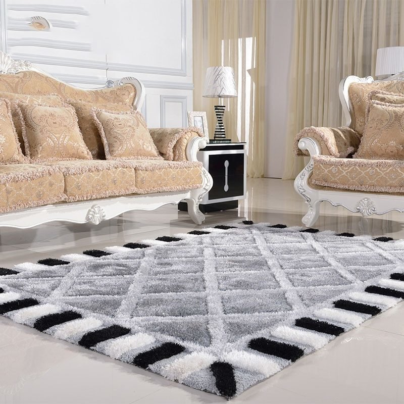 Best Modern Minimalist Living Room Carpet Thickened Bedroom Rug With Pictures