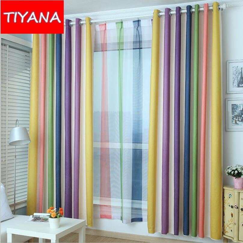 Best Colorful Striped Fashion High Quality Curtains For Bedroom With Pictures