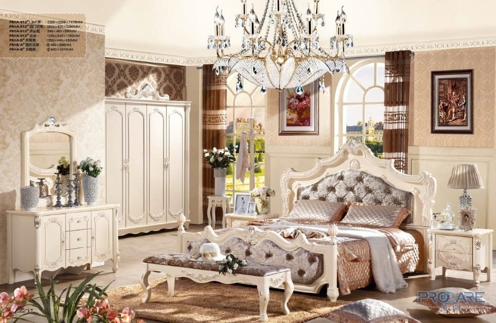 Best Luxury French Fancy Antique Design Solid Wood Fabric With Pictures