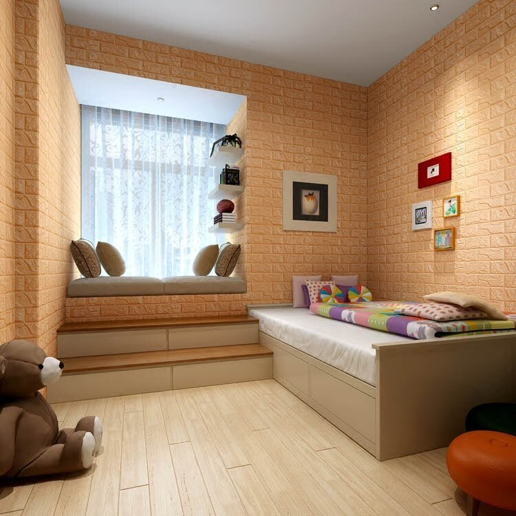 Best 3D Wall Panel Stickers Living Room 3D Brick Wallpaper For With Pictures