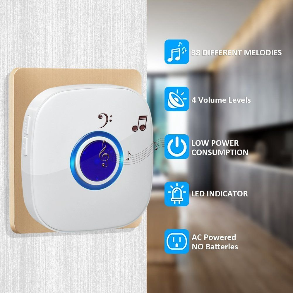 Best Css Wireless Door Bell Doorbell For Home Office Kitchen With Pictures