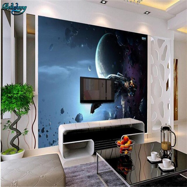 Best Beibehang Large Custom Wallpaper Science Fiction Space With Pictures