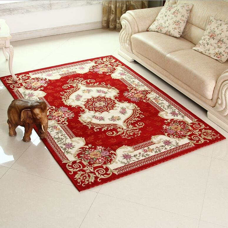 Best European Anti Skid Red Carpet Area Rug For Living Room Large Size Rugs Bedroom Carpets For Home With Pictures