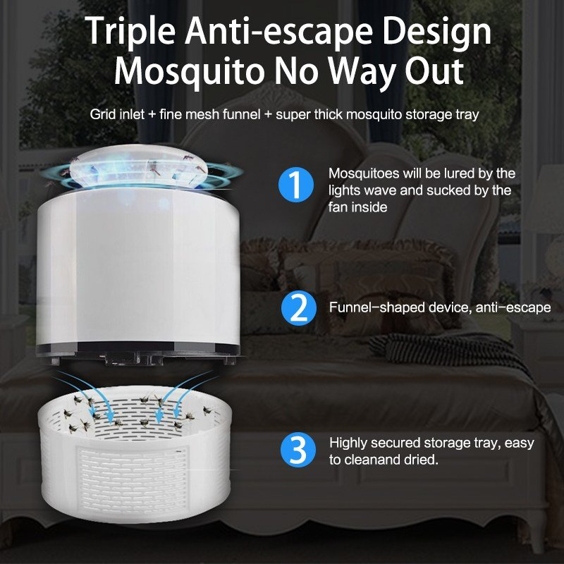 Best Mosquito Killer Lamp Usb Anti Mosquito Electric Silent Bug Zapper 5V Led Mosquito Trap For With Pictures