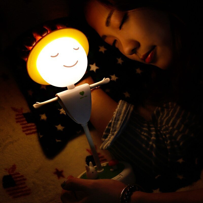 Best Touch Induction Clap Led Small Night Light Plugged The Usb With Pictures