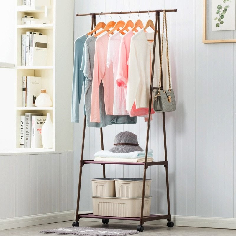 Best Coat Rack Nonwovens Stainless Steel Simple Assembly Can Be Removed Bedroom Move Triangle Clothes With Pictures