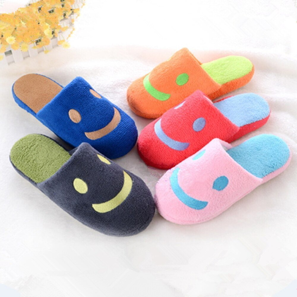 Best 2017 Hot Smiley Pattern Winter Slippers Cute Bedroom With Pictures