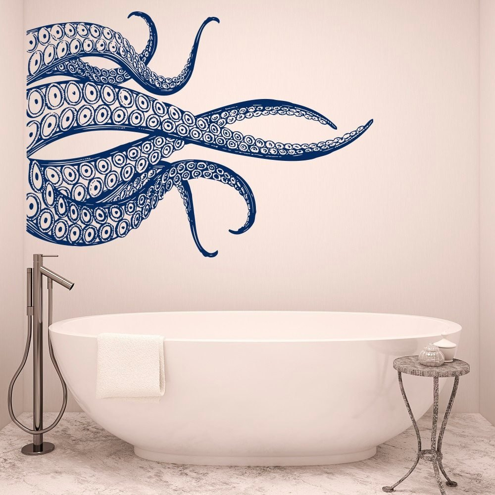 Best Big Octopus Tentacles Wall Decals Ocean Style Vinyl Wall With Pictures