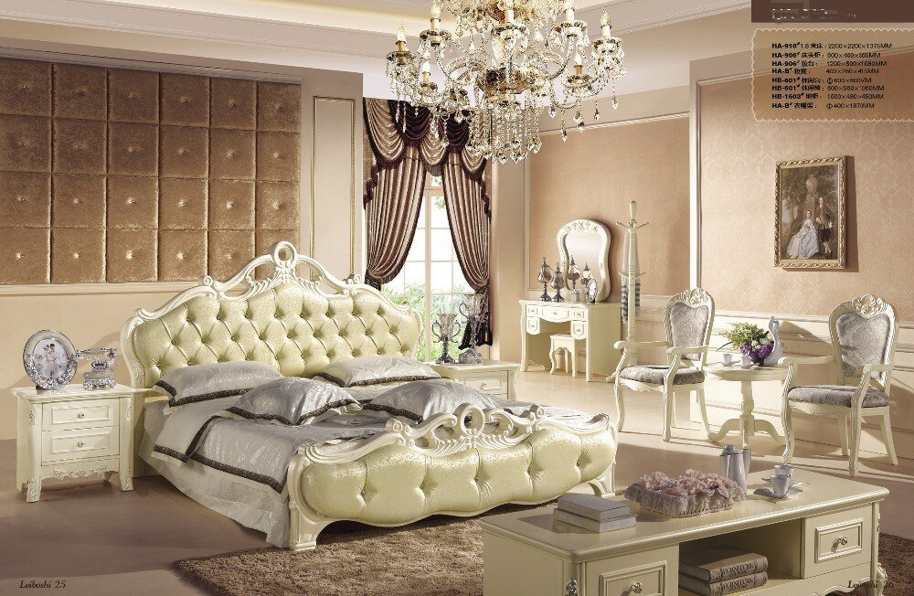 Best Green Color New Design Oak Solid Wood Bedroom Furniture With Pictures