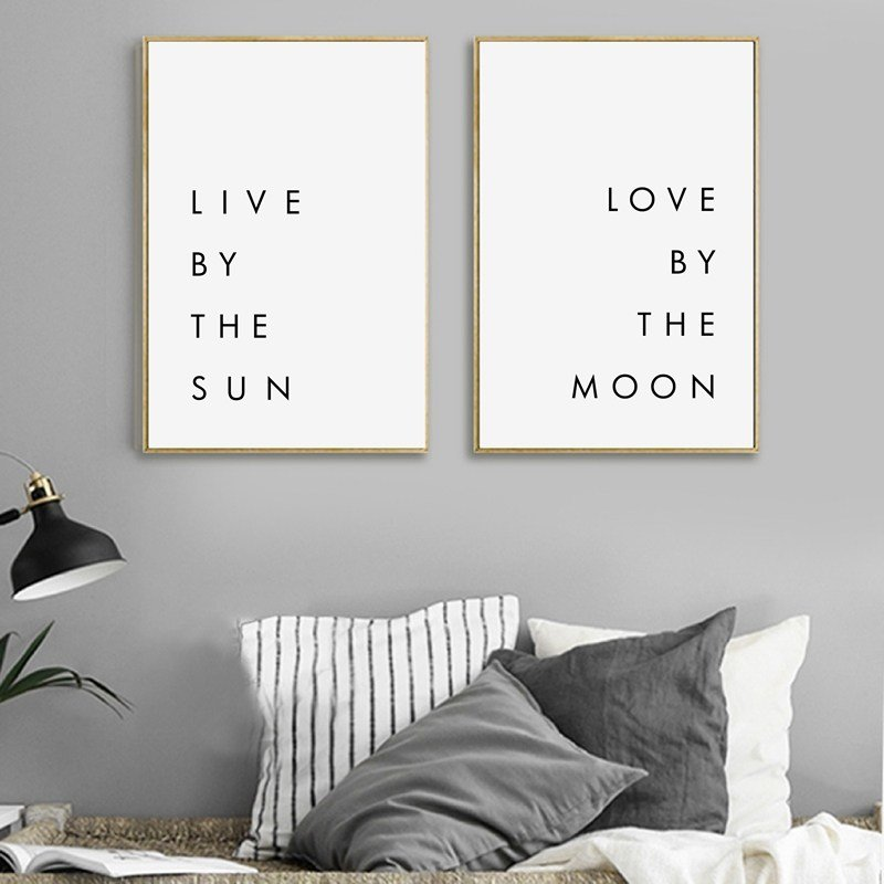 Best Bedroom Wall Art Minimalist Canvas Print Poster Live By With Pictures