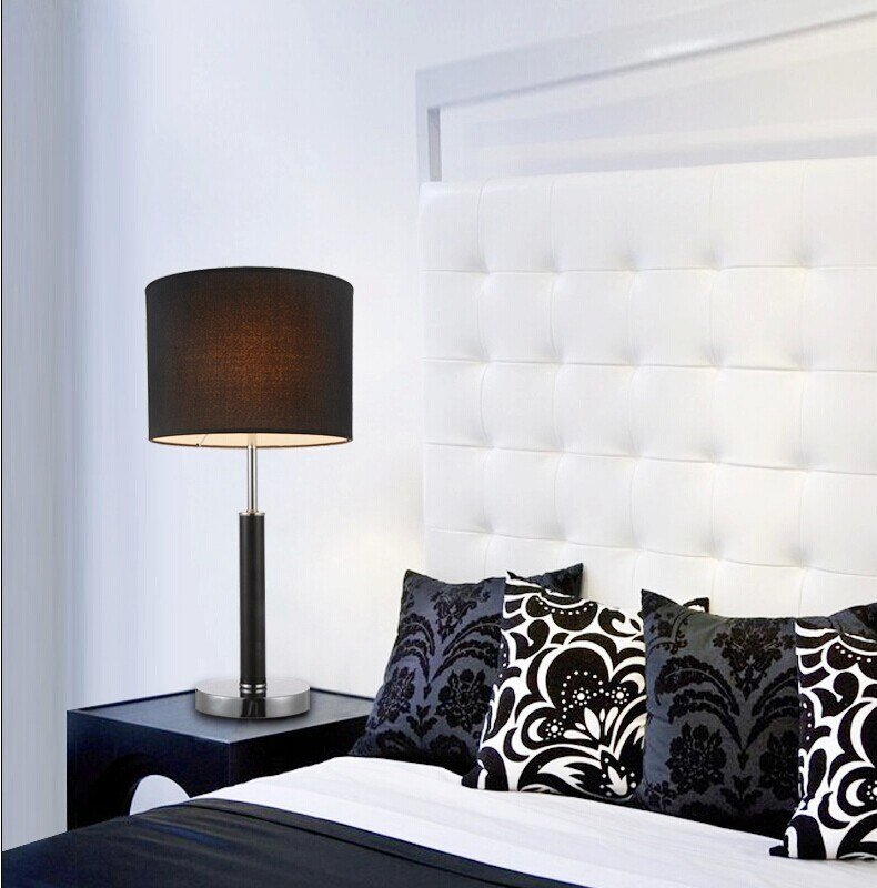 Best Modern Black White Table Lamp Light Bedroom Decoration With Pictures