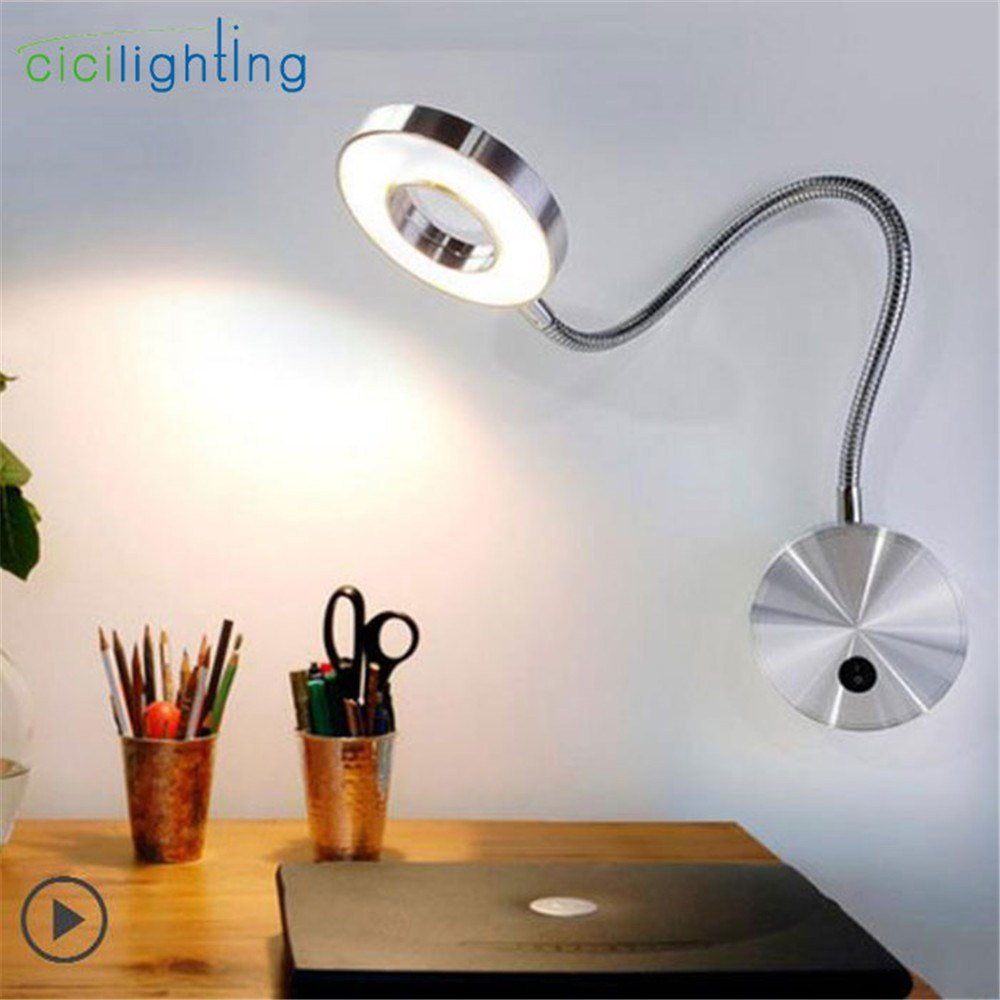 Best Led Wall Lamp 5W Gooseneck Bedside Reading Lamp Led With Pictures