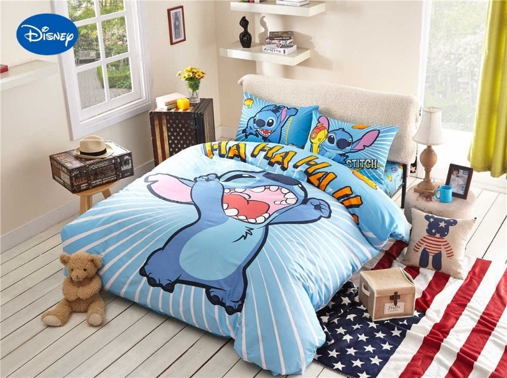 Best Stitch Print Bedding Set For Children S Kids Bedroom Decor With Pictures