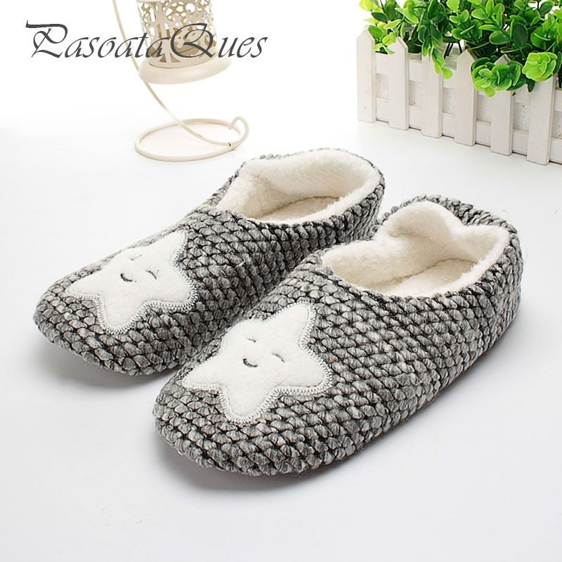Best Star Pattern Winter Home Slippers Women House Shoes Female With Pictures