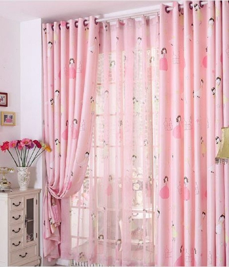Best Pink Princess Blackout Window Curtains For Kids Girls With Pictures
