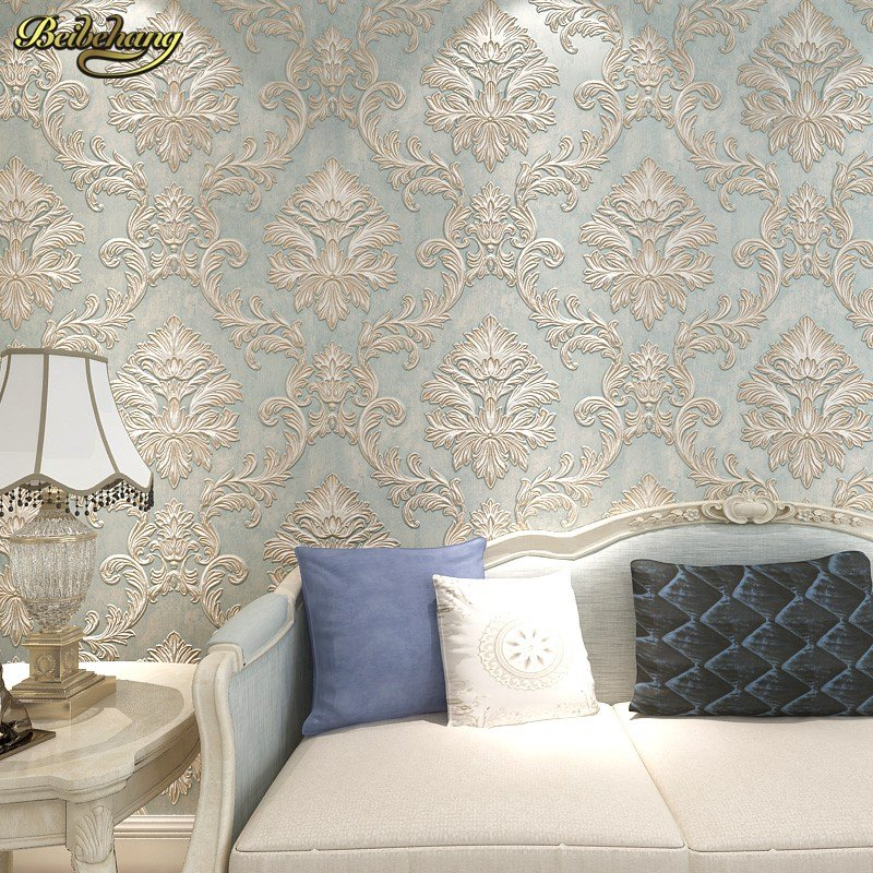 Best Beibehang 3D Damask Wall Paper Bedroom Living Photo Mural With Pictures