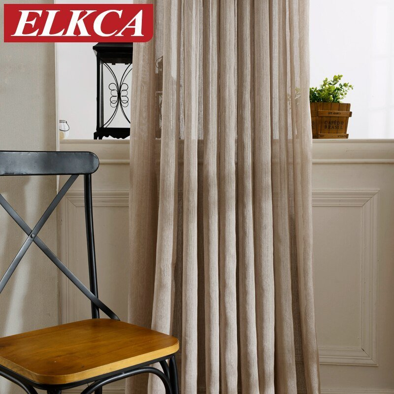 Best Hot Sale Japan Solid Tulle Curtains For Living Room Window Curtains For Bedroom Kitchen Modern With Pictures