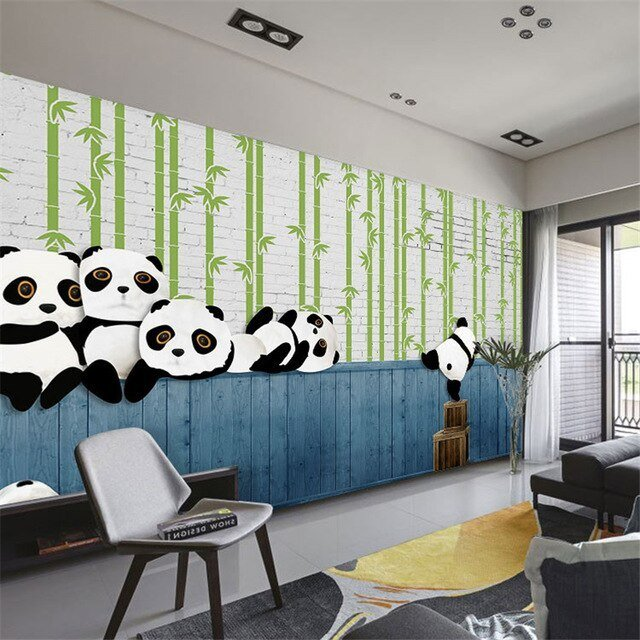 Best Beibehang Custom 3D Modern Simple Panda Animal Children With Pictures