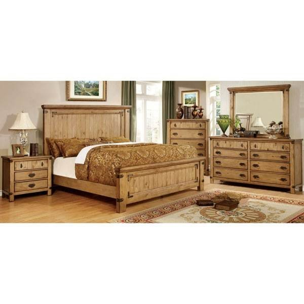 Best Furniture Of America Sierren Country Style 4 Piece Bedroom Set Free Shipping Today Overstock With Pictures