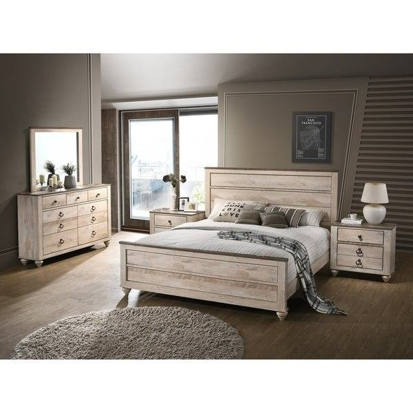 Best Shop Imerland Contemporary White Wash Finish 5 Piece With Pictures