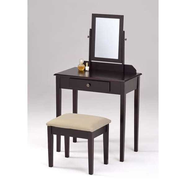 Best Shop Espresso Finish Contemporary Bedroom Vanity Set And With Pictures