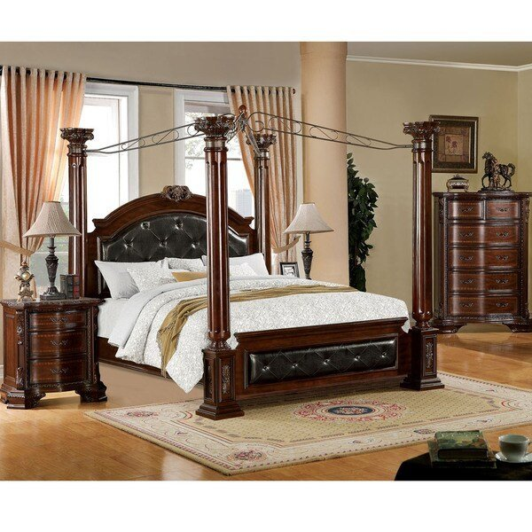 Best Shop Furniture Of America Luxury Brown Cherry 3 Piece With Pictures