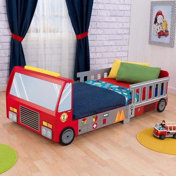Best Shop Kidkraft Fire Truck Toddler Bed Free Shipping Today With Pictures