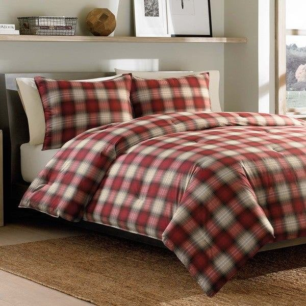 Best Shop Eddie Bauer Navigation 3 Piece Plaid Cotton Comforter Set On Sale Free Shipping Today With Pictures